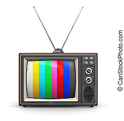 Old color TV - Creative abstract communication media and...