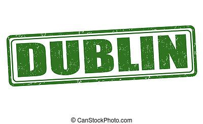 Dublin stamp - Dublin grunge rubber stamp on white, vector...