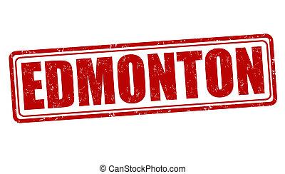 Edmonton stamp - Edmonton grunge rubber stamp on white,...