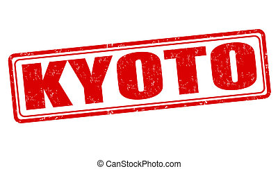 Kyoto stamp - Kyoto grunge rubber stamp on white, vector...