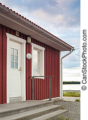 Finnish house - Typical traditional house of a Finnish...