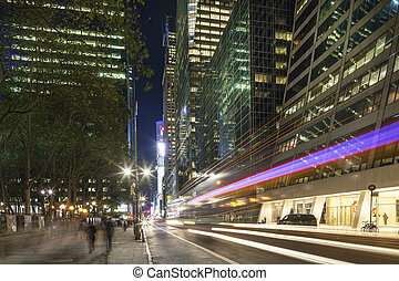 Midtown Manhattan: Skyscrapers, street, people - Midtown...