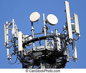 radar and antennas for signal repetition of mobile telephony and television signals