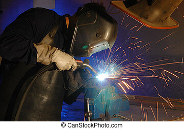 The welder - Welding man - man at work