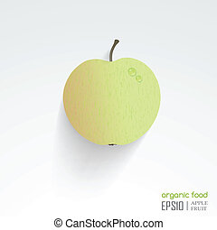 vector illustration of isolated apple