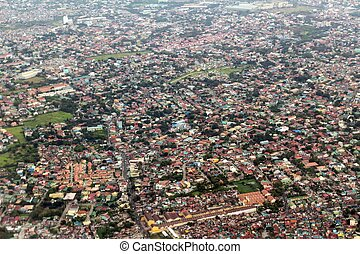 Manila view from airplane