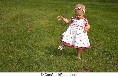 High Stepping Toddler Girl - This cute toddler girl is...