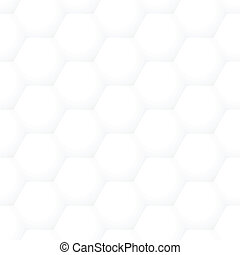 Vector seamless volume honeycomb abstract pattern - square...