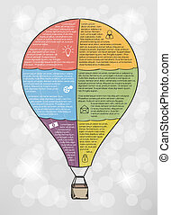infographic vector balloon with text and icons