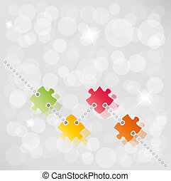vector puzzle path background