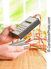 Biofeedback device used in alternative medicine...