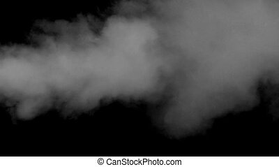 Vapor Jet - Horizontal flow of smoke in the center of the...