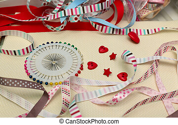 scrapbooking - scrapbook background ribbon with decoration...