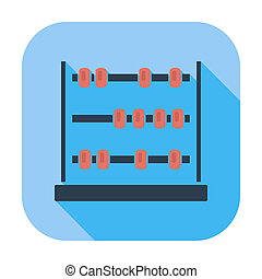 Abacus. Single flat color icon. Vector illustration.