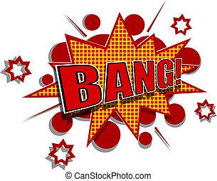 Cartoon illustration of bang