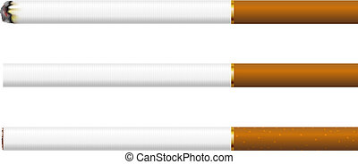 Cigarettes on a white background