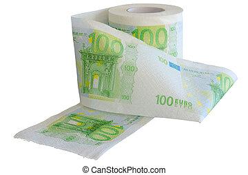 Devaluation - money depreciation.