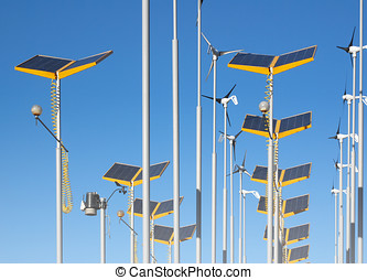 Alternative power supplies - Telephoto view of wind...
