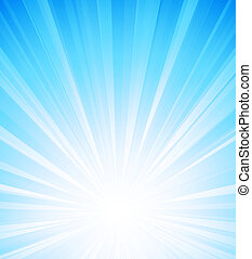 Orange summer sun light burst - Vector illustration Orange...