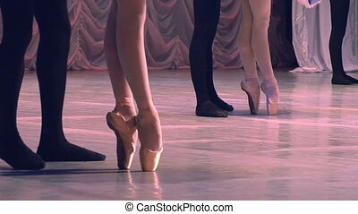 Ballet Dancing Couples - Dancing couples show classical...