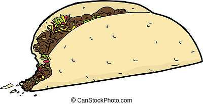 Taco with Missing Bite
