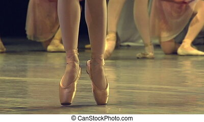 Two Ballet Dancers - Two ballet dancers performing...