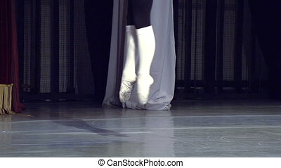 Ballet Dancer on Stage - Male ballet dancer dancing on the...