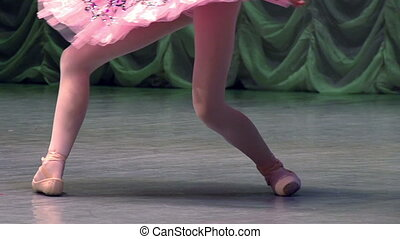 Elegant Classical Ballet on Stage - Ballerina on stage glow...