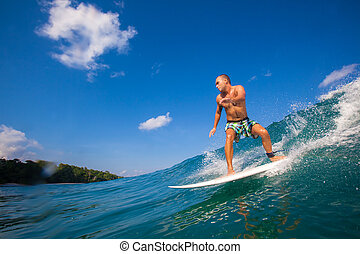 Surfing a Wave.GLand Surf Area.Indonesia. - Picture of...