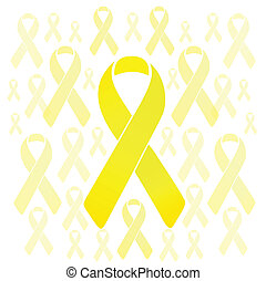 support our troops yellow ribbons illustration design over a...