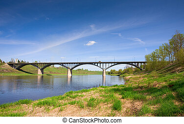 road bridge. Images done in Russia, near the town of Rzhev