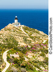 Revellata lighthouse in Corsica - Revellata lighthouse with...