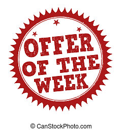Offer of the week stamp - Offer of the week grunge rubber...