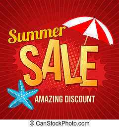 Summer sale promotional poster - Summer sale design template...