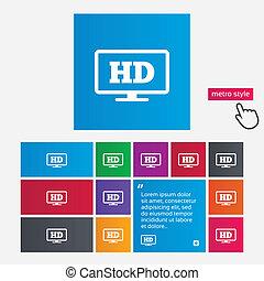 HD widescreen tv High-definition symbol - HD widescreen tv...