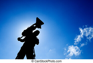cameraman with silhouette - Here is a cameraman with...