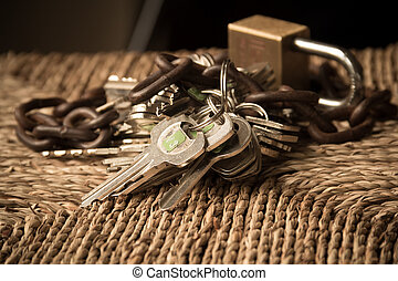 concept of Security lockand safe property