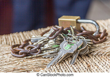 concept of Security lockand safe property - concept of...