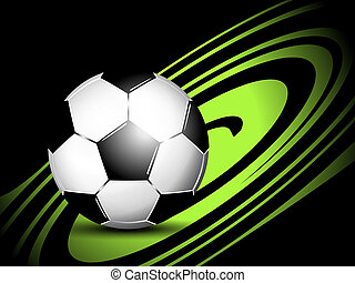 Soccer ball - Dynamic sports background with soccer ball