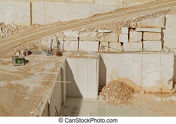 White marble quarry - Photo of white marble quarry in...