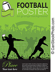 American Football Poster - American Football with Players...