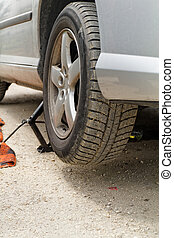Car parts - Photo of a car towage in the road