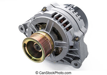 Alternator for the car - Automobile generator isolated on...
