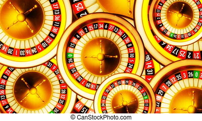 Roulette wheels - 3D animation composition of casino...