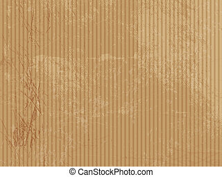 Corrugated cardboard texture - Brown paper background -...
