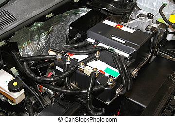 Electric car engine - Under the hood of electric car