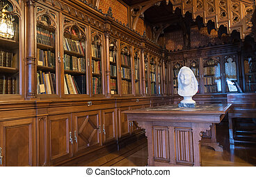 Library of Tsar Nicholas II in the Hermitage, St. Petersburg. Russia
