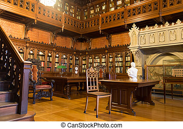 Library of Tsar Nicholas II in the Hermitage, St....