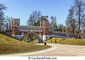 Tsaritsyno Park, Moscow - Figured bridge in Tsaritsyno park...