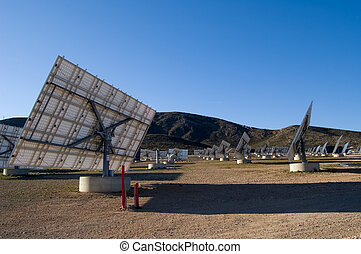 Solar power station - Spain - Solar power plant - Power...